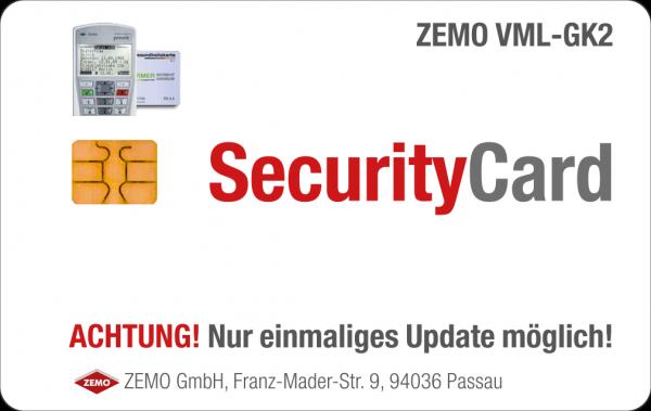 VML-SecurityCard (für ZEMO VML-GK2-Update auf Firmware V3.1.0 Online-Rollout OPB1)