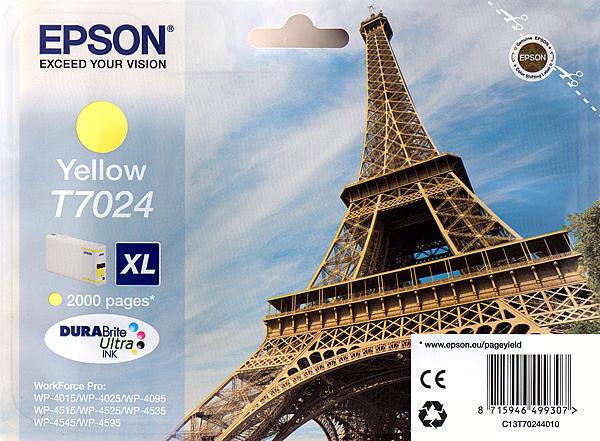 Epson Tinte gelb 21ml WF Pro XL