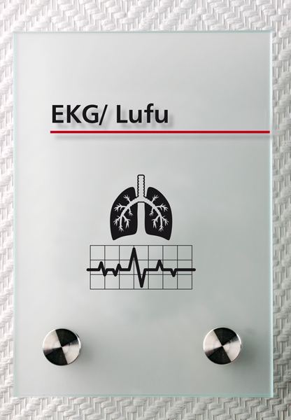 Motiv: (M0200) EKG/Lufu schwarz-rot