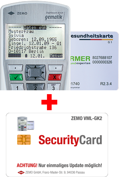 ZEMO VML-GK2 mobiler Leser incl. Firmware-Update auf Online-Rollout (OPB1)