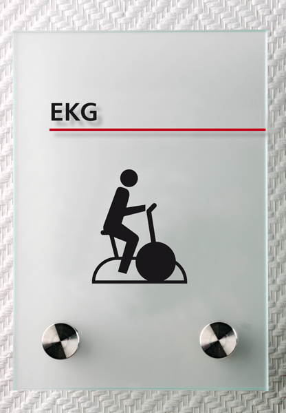 Motiv: (M0170) EKG schwarz-rot