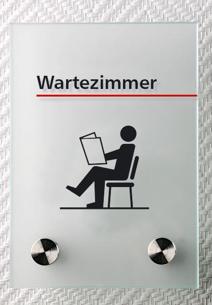Motiv: (M0020) Wartezimmer schwarz-rot