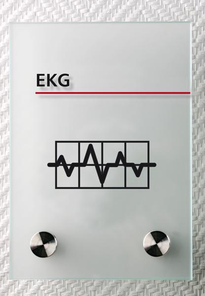 Motiv: (M0180) EKG Herzdiagramm schwarz-rot