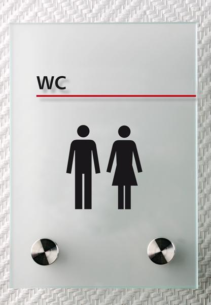 Motiv: (M0130) WC schwarz-rot