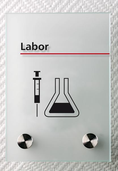 Motiv: (M0210) Labor schwarz-rot