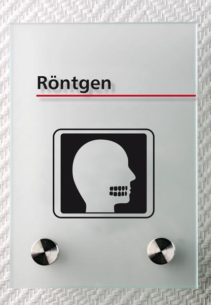 Motiv: (M0360) Röntgen Zahnarzt schwarz-rot