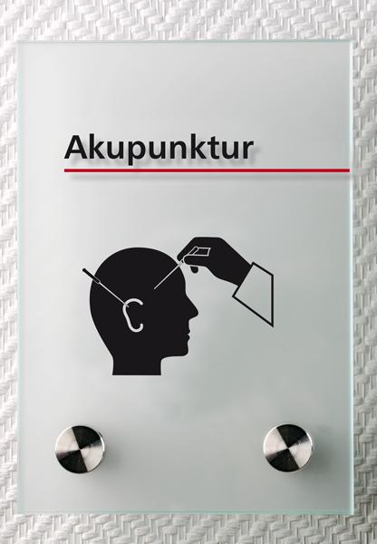 Motiv: (M0310) Akupunktur schwarz-rot
