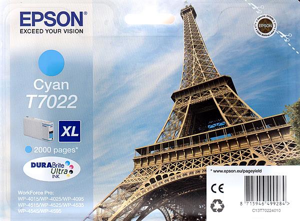 Epson Tinte Cyan 21ml WF Pro XL