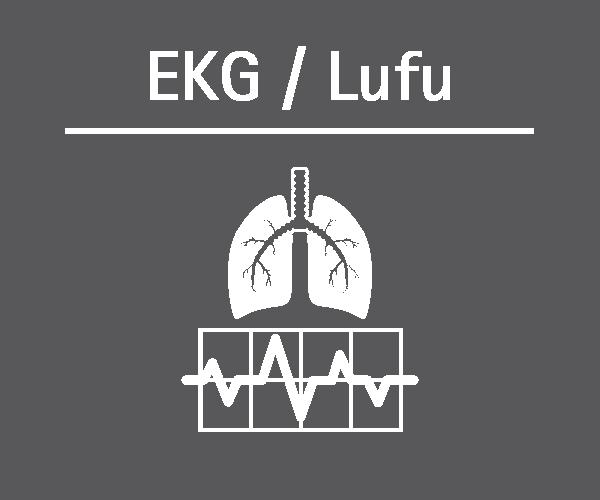 Motiv: (M0200) EKG/Lufu weiss-grau