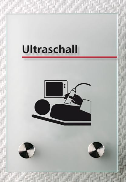 Motiv: (M0270) Ultraschall schwarz-rot