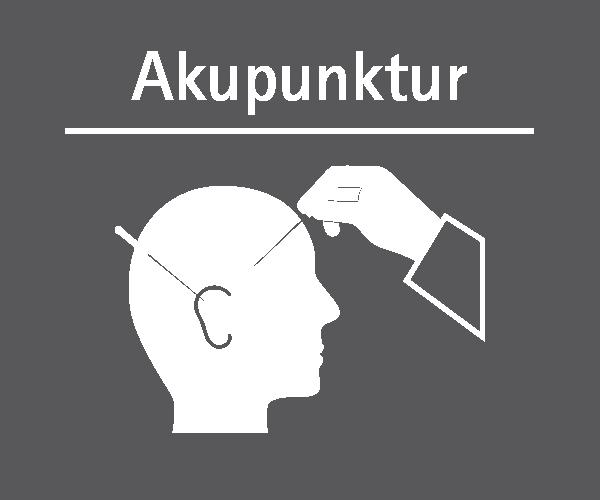 Motiv: (M0310) Akupunktur weiss-grau
