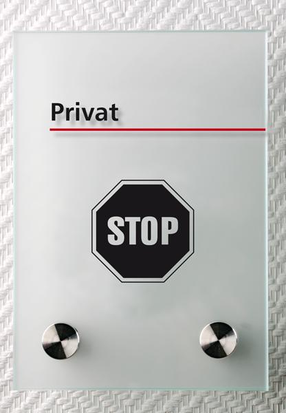 Motiv: (M0040) Privat schwarz-rot