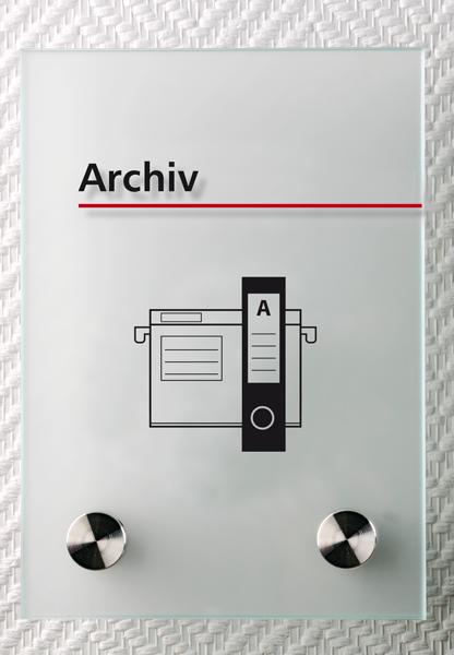 Motiv: (M0280) Archiv schwarz-rot
