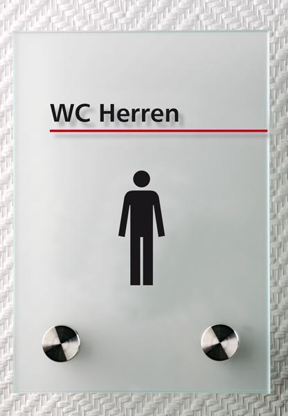 Motiv: (M0150) WC Herren schwarz-rot