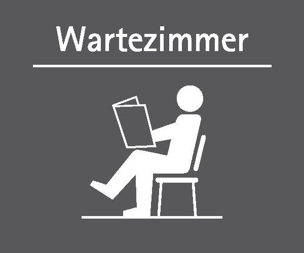 Motiv: (M0020) Wartezimmer weiss-grau